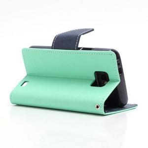 Diary PU kožené pouzdro na mobil Samsung Galaxy S2 - azurové - 4