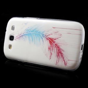 Ultratenký gelový obal na mobil Samsung Galaxy S3 - peříčko - 4