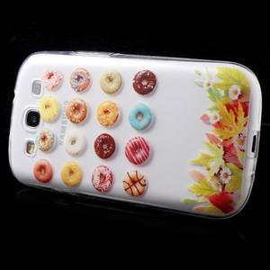 Ultratenký gelový obal na mobil Samsung Galaxy S3 - donuts - 4