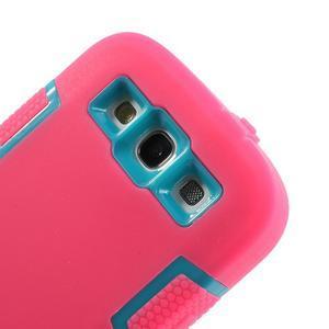 Odolné silikonové pouzdro na mobil Samsung Galaxy S3 - rose - 4