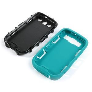 Odolné silikonové pouzdro na mobil Samsung Galaxy S3 - modré/černé - 4