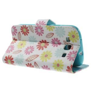 Knížečkové pouzdro na Samsung Galaxy S3 - květinky - 4