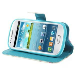 Knížkové pouzdro na mobil Samsung Galaxy S3 mini - květinová koláž - 4