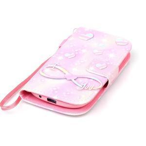 Knížkové PU kožené pouzdro na Samsung Galaxy S3 mini - láska - 4