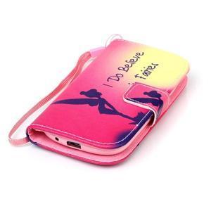 Knížkové PU kožené pouzdro na Samsung Galaxy S3 mini - víla - 4