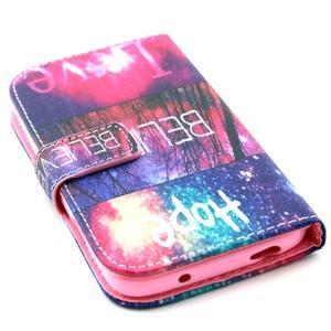 Standy peněženkové pouzdro na Samsung Galaxy S4 - believe - 4