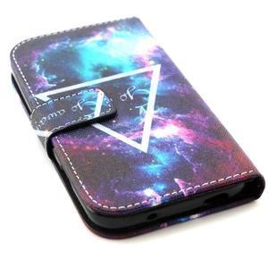 Standy peněženkové pouzdro na Samsung Galaxy S4 - triangl - 4