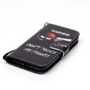 Knížkové koženkové pouzdro na Samsung Galaxy S4 - nešahat - 4