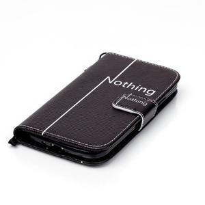 Knížkové koženkové pouzdro na Samsung Galaxy S4 - nothing - 4