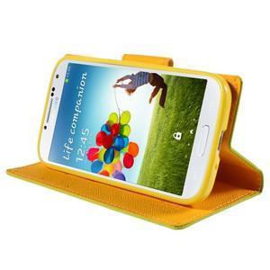 Sunny PU kožené pouzdro na mobil Samsung Galaxy S4 - zelené - 4