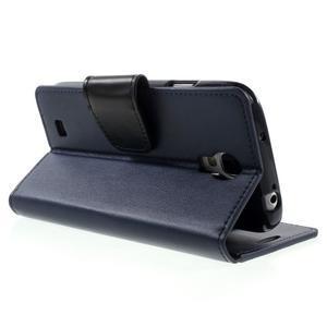 Diary PU kožené pouzdro na mobil Samsung Galaxy S4 - tmavěmodré - 4
