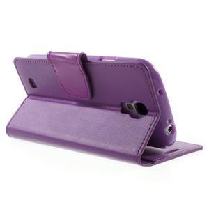 Diary PU kožené pouzdro na mobil Samsung Galaxy S4 - fialové - 4