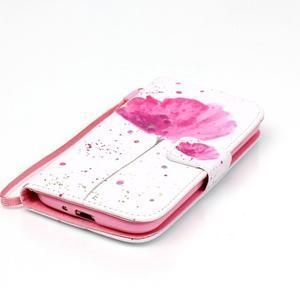 Knížkové koženkové pouzdro na Samsung Galaxy S4 - flower - 4