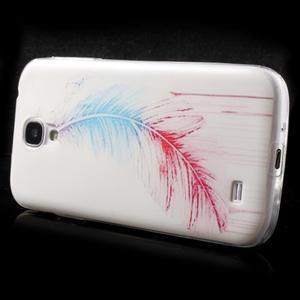 Slim gelový obal na mobil Samsung Galaxy S4 - peříčko - 4