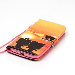 Knížkové koženkové pouzdro na Samsung Galaxy S4 - sunrise - 4