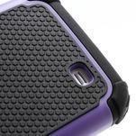 Outdoor odolný silikonový obal na Samsung Galaxy S4 - fialový - 4/5