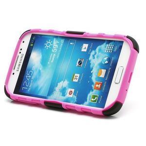 Odolný ochranný silikonový kryt na Samsung Galaxy S4 - rose - 4