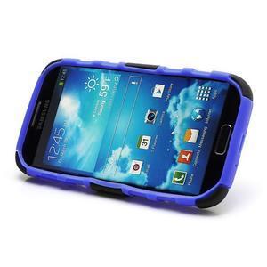 Odolný ochranný silikonový kryt na Samsung Galaxy S4 - modrý - 4
