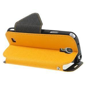 Okýnkové peněženkové pouzdro na mobil Samsung Galaxy S4 - žluté - 4