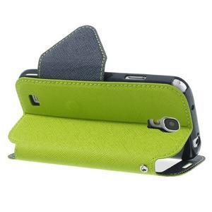 Okýnkové peněženkové pouzdro na mobil Samsung Galaxy S4 - zelené - 4
