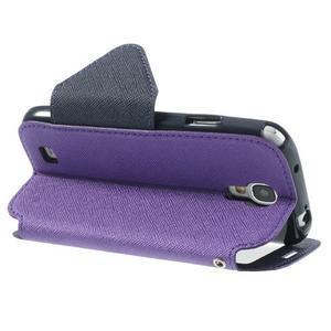 Okýnkové peněženkové pouzdro na mobil Samsung Galaxy S4 - fialové - 4