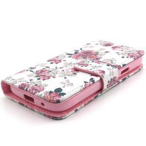 Pouzdro na mobil Samsung Galaxy S4 mini - květiny - 4