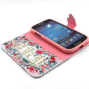 Diaryleather pouzdro na mobil Samsung Galaxy S4 mini - Shakespeare - 4