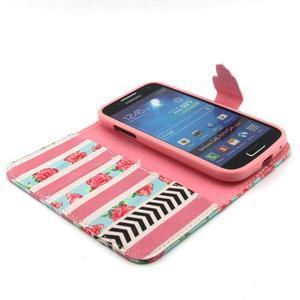 Diaryleather pouzdro na mobil Samsung Galaxy S4 mini - růže - 4