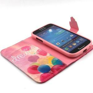 Diaryleather pouzdro na mobil Samsung Galaxy S4 mini - balónky - 4