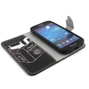 Diaryleather pouzdro na mobil Samsung Galaxy S4 mini - kočička čte - 4