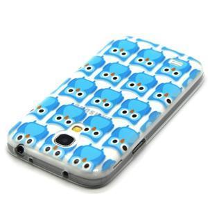 Transparentní gelový obal na Samsung Galaxy S4 mini - modré sovičky - 4