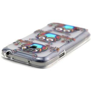 Transparentní gelový obal na Samsung Galaxy S4 mini - sovičky - 4
