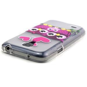 Transparentní gelový obal na Samsung Galaxy S4 mini - soví rodinka - 4