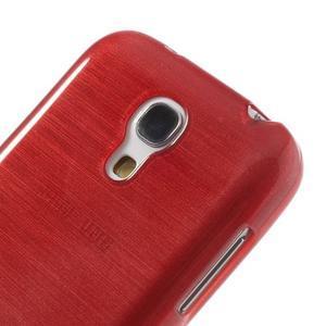 Brushed gelový obal na mobil Samsung Galaxy S4 mini - červený - 4