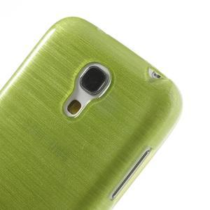Brushed gelový obal na mobil Samsung Galaxy S4 mini - zelený - 4