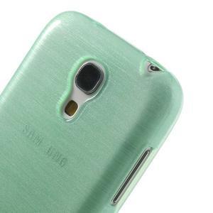 Brushed gelový obal na mobil Samsung Galaxy S4 mini - azurový - 4