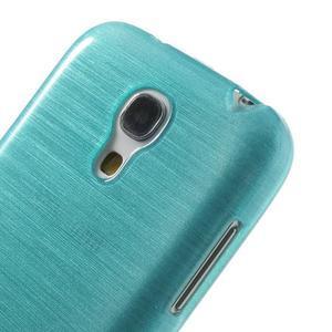 Brushed gelový obal na mobil Samsung Galaxy S4 mini - modrý - 4