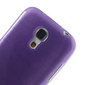Brushed gelový obal na mobil Samsung Galaxy S4 mini - fialový - 4