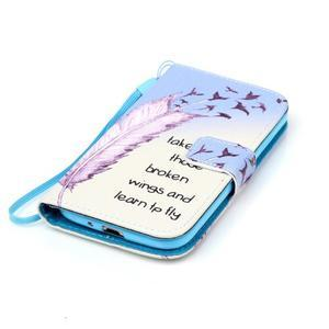 Diary peněženkové pouzdro na mobil Samsung Galaxy S4 mini - ptáčci - 4