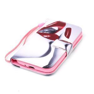 Diary peněženkové pouzdro na mobil Samsung Galaxy S4 mini - sexy rty - 4