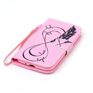 Diary peněženkové pouzdro na mobil Samsung Galaxy S4 mini - love - 4