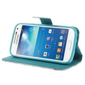 Style peněženkové pouzdro na Samsung Galaxy S4 mini - kytičky - 4