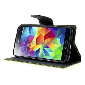 Diary peněženkové pouzdro na Samsung Galaxy S5 - zelené - 4