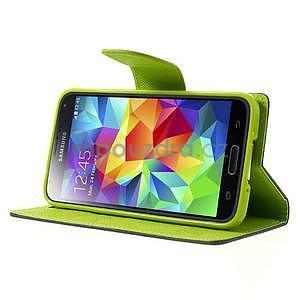 Diary peněženkové pouzdro na Samsung Galaxy S5 - tmavěmodré - 4