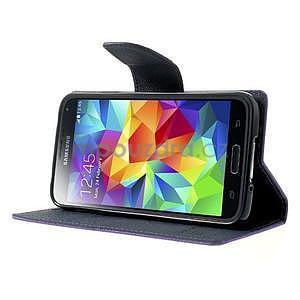 Diary peněženkové pouzdro na Samsung Galaxy S5 - fialové - 4