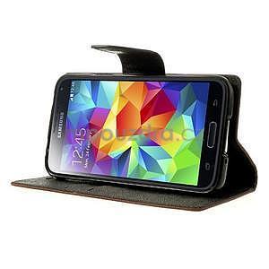 Diary peněženkové pouzdro na Samsung Galaxy S5 - hnědé - 4