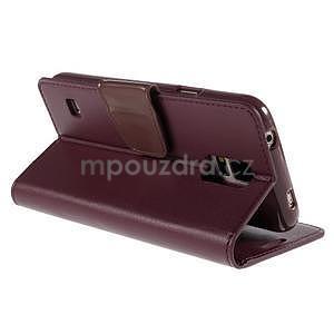 Elegantní peněženkové pouzdro na Samsung Galaxy S5 - vínové - 4