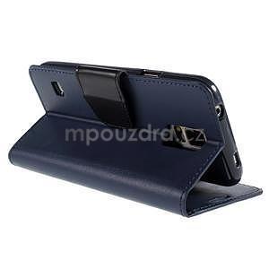 Elegantní peněženkové pouzdro na Samsung Galaxy S5 - tmavěmodré - 4