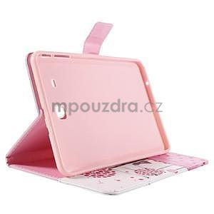 Ochranné koženkové pouzdro na Samsung Galaxy Tab E 9.6 - dívka & pamepelišky - 4
