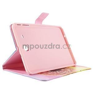 Ochranné koženkové pouzdro na Samsung Galaxy Tab E 9.6 - oranžová pamepelišky - 4